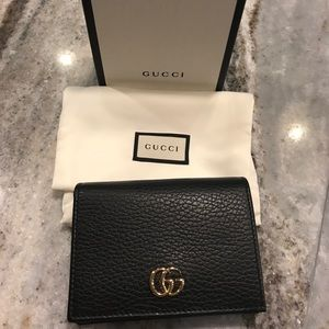 Gucci GG Pebbled Leather Card Case